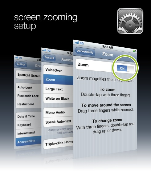 screen zooming setup