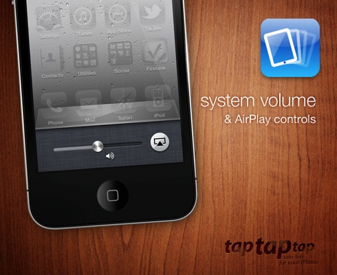 system volume & AirPlay controls