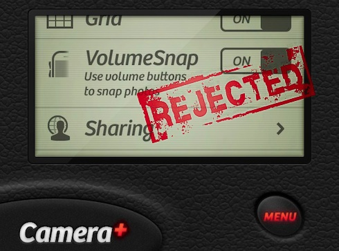 VolumeSnap rejected