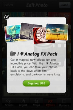 "purchasing the ""I ♥ Analog"" effects pack"