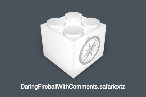 Daring Fireball with Comments, Take 2: the Safari extension