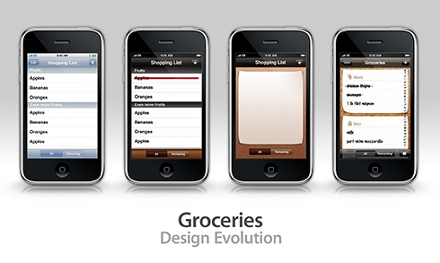 Groceries ~ Design Evolution