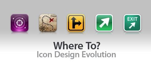 Where To? ~ Icon Design Evolution