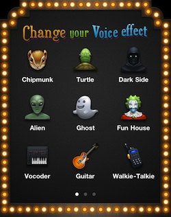change your voice effect